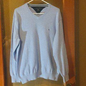 Tommy Hilfiger Blue V-neck cotton Sweater M/L